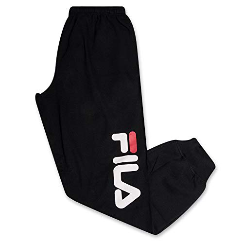 Fila Mens Big and Tall Joggers Sweatpants Athletic Logo Fleece Sweatpant with Pockets