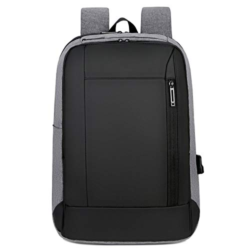 Mens Travel Mochila Waterproof USB Charge Male Anti-Theft Laptop Rucksacks Fashion 15.6 Inch Business Computer Back Pack,Gray Backpack,17 Inches ()