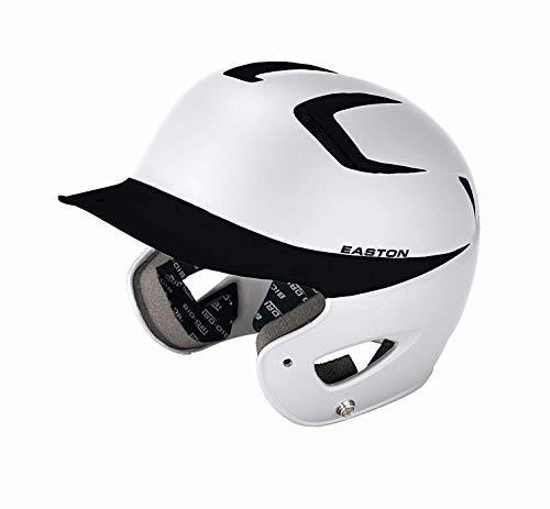 - Easton Two-Tone Natural Grip Junior Batting Helmet, White/Black