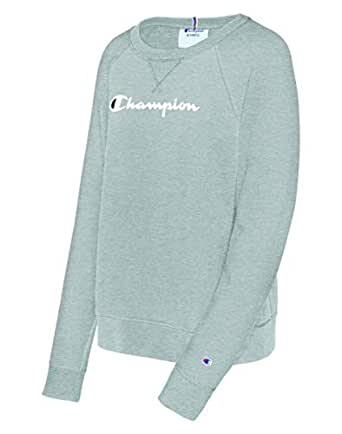 Champion Womens Heritage French Terry Crew Long Sleeve Sweatshirt - Gray - Small