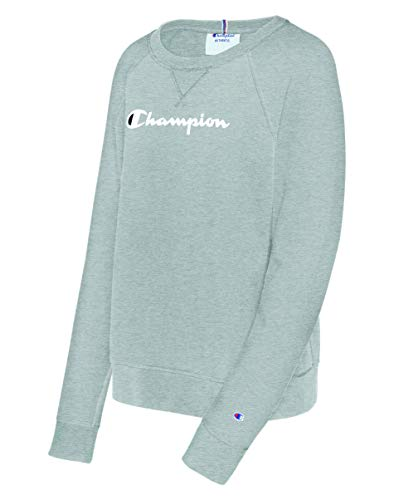 Champion Women's Heritage French Terry Crew, Oxford Gray, Medium ()