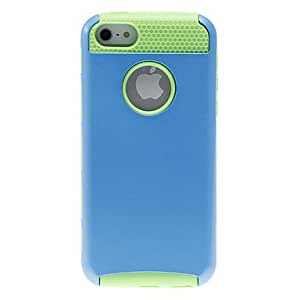 QHY 2-in-1 Design Solid Color Hard Case with Green TPU Inside for iPhone 5C (Assorted Colors) , White
