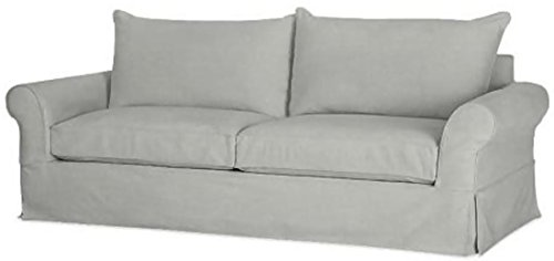"""The Cotton Sofa Cover Only ( Width: 81""""~ 85"""", Not 92"""" ! ) Fits Pottery Barn PB Comfort Roll ARM Sofa ( Not Grand Sofa). A Durable Slipcover Replacement. Light Gray (Knife Edge) (Slipcover Sofa Barn Grand Pottery)"""