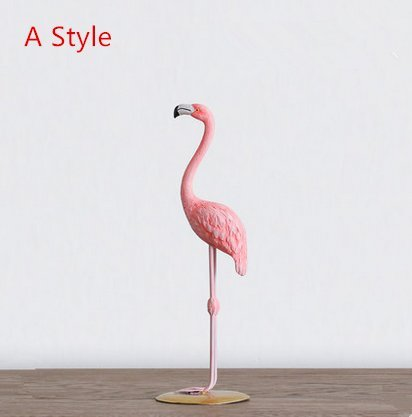 URToys 1Pcs Pink Lovely Resin Flamingo Miniature Crafts Creative Home Room Ornaments Decoration Desktop Display Figurines Christmas Valentine's Day Girlfriend Gifts