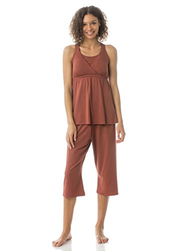 Kinzie PJ - Women's Cropped Nursing/Maternity Pajama Set - Made in The USA