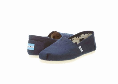 Toms Women's Classic Canvas Navy Slip-on Shoe – 5.5 B(M) US