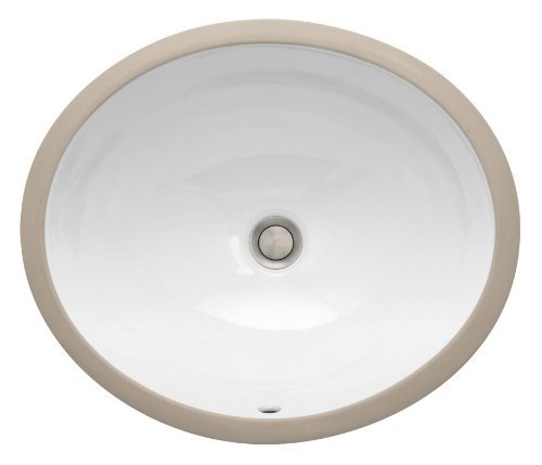 St. Thomas Creations 1061.000.01 Vanity Medium Round Undermount Lavatory Sink with Overflow, White Finish. Drain stopper not included.