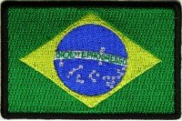 The Brazil Flag Patch 3x2/ inch, Thermal Embroidered Badge Badge Embroidery on Clothing Ecusson