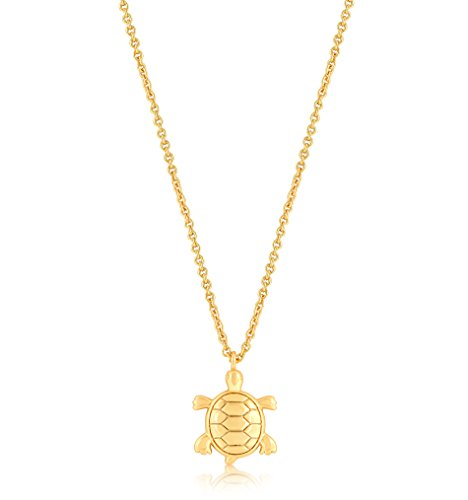 (ESCALIE Turtle Necklace, Turtle Pendant Necklace, Animal Jewelry for Women Girls Gold Plated)