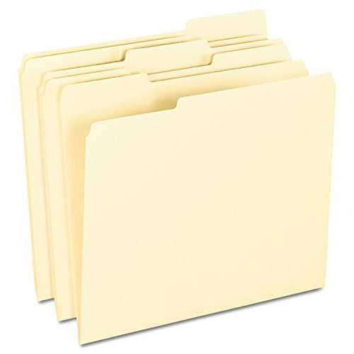 Pendaflex 62702 Smart Shield File Folders, 1/3 Cut End Tab, Letter, Manila (Box of 100)