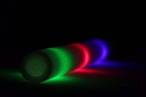 18'' Multicolor LED Foam Stick Baton for Weddings, Parties and Dancing, 200 Pack LED Glow Sticks with 3 Mode Lighting by Promotional Party Sticks (Image #2)
