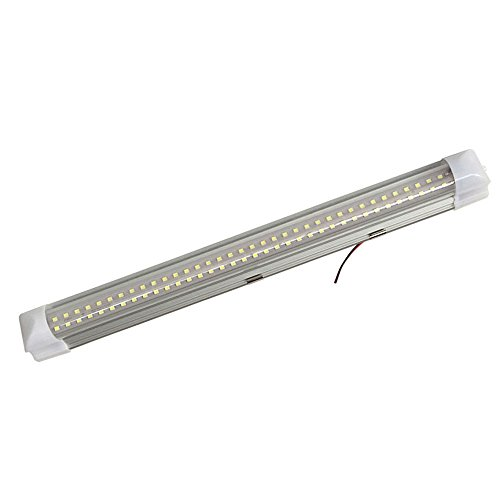 Cabinet Lighting Bar - 12v-ledlight 72-LEDs Interior Light Bar with Switch Natural White - RV Camper Trailer Marine Indoor Strip Light - 12 Volt Under Cabinet Light Bar Hardwire