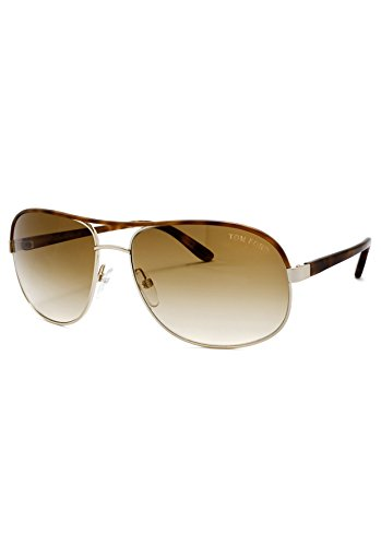 New Authentic Brown/Gold Tom Ford PIERRE TF 111 28F Sunglasses