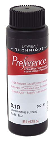 L'Oreal 8.1B Champagne Blonde Permanent Hair Color 8.1B Champagne - 8.5a Champagne