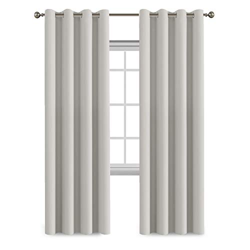 Flamingo P White Curtains 84 Inches Length for Bedroom/Living Room
