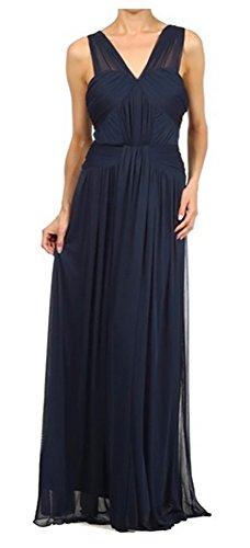Brautkleid für Abendkleid Kleid Elegant Hochzeit Abschlussball Dunkelblau Chiffonkleid Festlich Lang Brautjungfernkleid 151g7AqwB