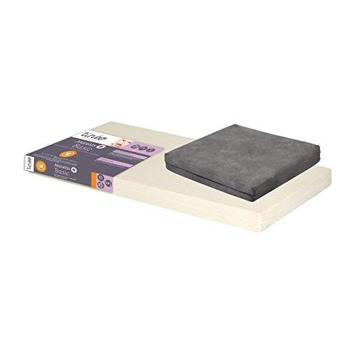 Tin/éo matelas b/éb/é d/éhoussable 60 x 120 x 10 cm matelas pliant gris offert
