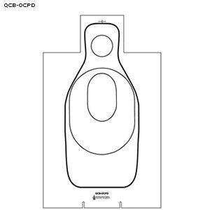 CARBOARD Q TARGETS WITH OKLAHOMA CLEET SCORING 100 PACK by Law Enforcement Targets