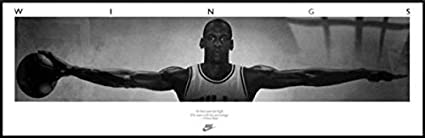 59b487246eb Amazon.com : Art and Frame MICHAEL JORDAN WINGS - ALUMINUM FRAMED ...