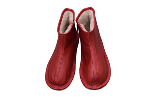 und 38 braun Schafwolle Größe 3 ausgekleidet 12 Stiefel Natural EU Größe Damen Leder Unisex rot Herren Hausschuhe wqI7ZI