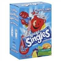 Aid Single - Kool-aid Singles Tropical Punch 12-.055 Oz Box 2-boxes