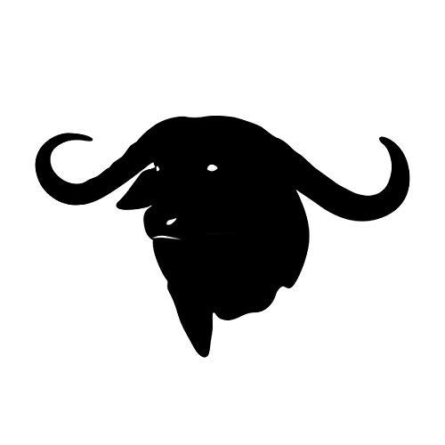 Cape Buffalo Head Decal African Plains Game Decal Cape Buffalo Head Decal for Wall 1249 by Waterfowldecals