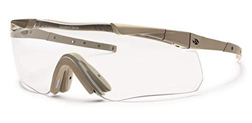 (Smith Optics Elite Aegis Echo II Compact Eyeshields Sunglass with Tan 499 Frame and Clear/Gray Lenses)