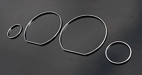 OriginalEuro Chrome Speedometer Gauge Dash Dial Rings Bezel Trim for VW Golf Jetta MK3 3 Vento