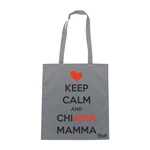 Borsa FESTA DELLA MAMMA KEEP CALM LOVE - Grigio - DIVERTENTE by Mush Dress Your Style