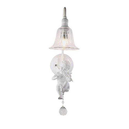 Pouluuo Simple Resin Angel Blowing Horn Bird Bedroom Bedside lamp Wall lamp/Speaker 453025cm ()
