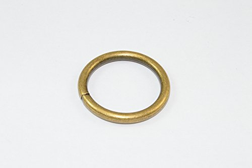 CURTAIN RING ANTIQUE BRASS PLATED METAL ID 25mm Pack Of 24 Brass Plated Ring