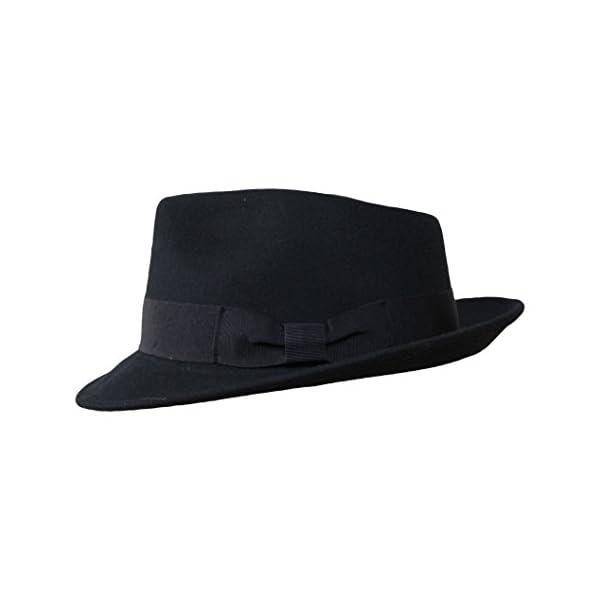 be5e33f5f Borges & Scott B&S Premium Doyle - Teardrop Fedora Hat - 100% Wool Felt -  Crushable for Travel - Water Resistant - Unisex