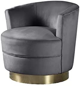 Best Master Furniture Josie Tufted Velour Swivel Living Room Accent Chair