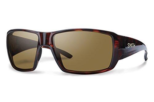 Smith Optics Guides Choice Sunglasses, Havana Frame, Polar Brown Techlite Glass - Sunglasses Guide Smith Lens