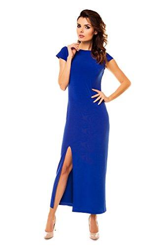 Rückenschlitz mit Awama Elegantes Kleid Maxi Blau wx1qpCY8q