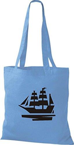 Botas Bolsa Tela Azul De Capitán Barco Shirtstown Claro Yute Skipper Vela a5qZpqYyg