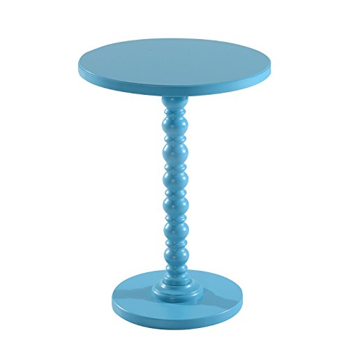 Blue Vintage Stylish Side Coffee Table Round Stand Desk Bar Outdoor Living Room With Ebook