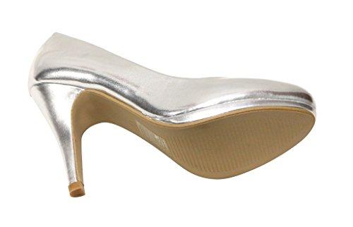 Patent Women's Multi Marie High Platform Almond Stilettos Bella Shoes Celo Color Silver 11 Toe Heel qTzWHTt0w