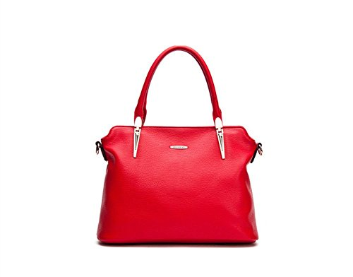Winter-QCKJ Lorenz-Borsa a tracolla da donna in massello, colore: rosso