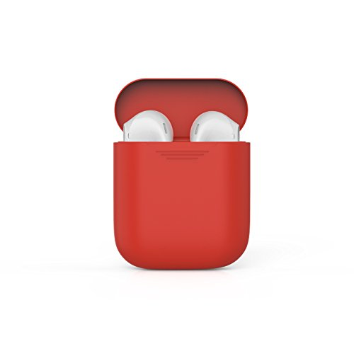 iTParts AirPods Case Protective Silicone Cover and Skin for Apple AirPods Charging Case - Lightweight, Compact and Durable - Red (Para 4 Ipad Accesorios)