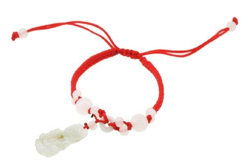 Handmade Quanyin Buddha Soapstone Beads Red String Bracelet, Kabbalah Bracelet