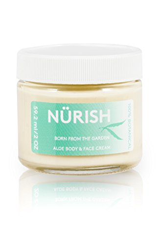 All Natural Hand and Body Deep Moisturizing Cream (2oz Jar), made only with vegan ingredients by NÜRISH (Aloe Jar Ounce 2)