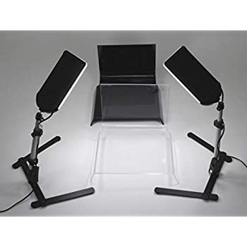 Image of Shooting Tables ALZO 100 LED Table Top Platform Light Kit - Black & Clear Shooting Tables for Jewelry Photography
