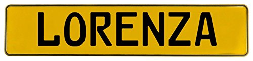 Vintage Parts 686905 Yellow Stamped Aluminum Street Sign Mancave Wall Art (Lorenza)