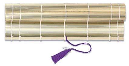 Yasutomo Fudemaki Natural Roll-Up Brush Holder, 10 1/2 X 11 1/2 inches, Bamboo ()