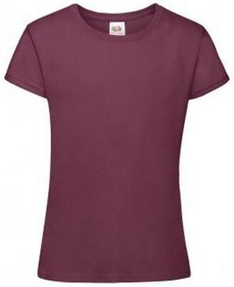 Fruit of the Loom Girls Sofspun Short Sleeve T-Shirt