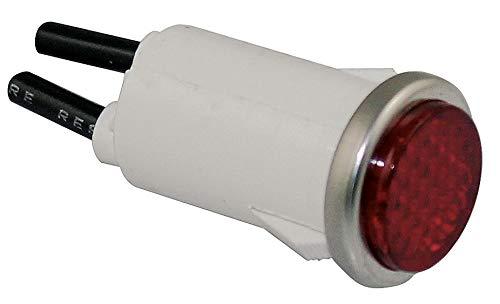 Dayton Light 12 - Dayton Flush Indicator Light, LED Lamp Type, 12VAC/DC Voltage, 1/2