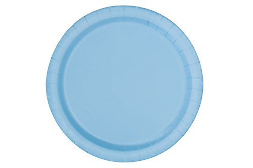 Appetizer Blue (Light Blue Paper Cake Plates, 20ct)