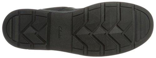 Caricamenti Uomo del Rushwaylacegtx Leather Nero Black Sistema Classici Clarks TCw5ZOqn