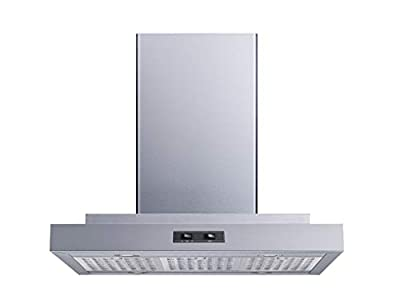 "30"" 400 CFM Convertible Island Mount Range Hood with Stainless Steel Baffle Filters and 4 Ultra bright Soft White LED Lights"